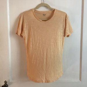 Peach Madewell Cotton T-Shirt XS